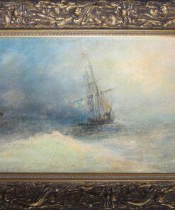"""Картина """"Шторм"""". Конец XIX века."""