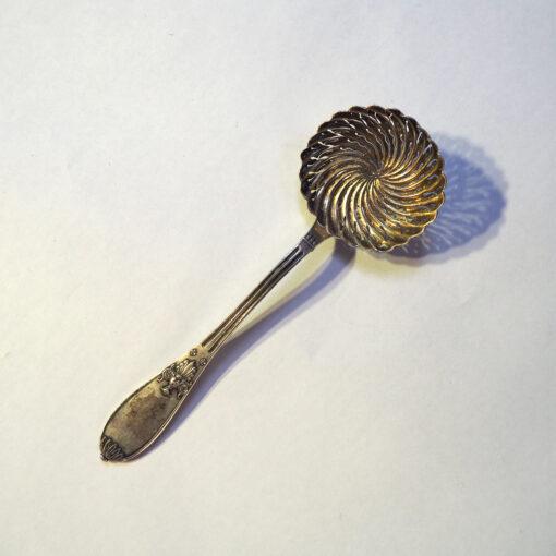 Старинное серебряное ситечко для чая начала ХХ века, Франция