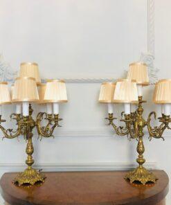 Парные бронзовые лампы начала XIX века, Франция.
