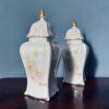 Пара старинных чайниц в стиле ар нуво, середина XX века.
