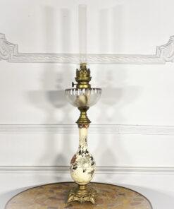 Антикварная керосиновая лампа в стиле шинуазри пер.пол. ХХ века из Франции.