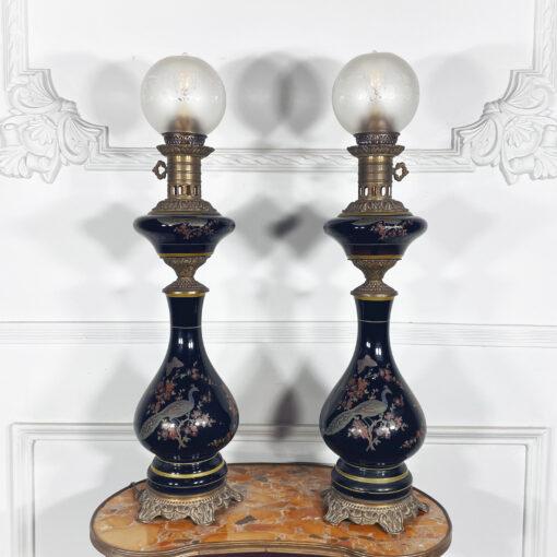 Лампы парные антикварные, XIX век, Франция