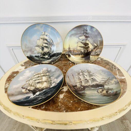 Набор винтажных декоративных коллекционных тарелок 4 шт. 1981 года, Franklin porcelain.