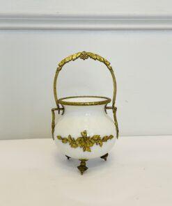 Вазочка (сахарница) антикварная конца XIX века, Франция