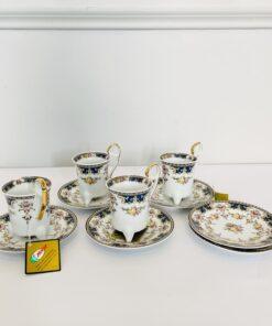 Кофейный сервиз Limoges: чашки и блюдца, 1960-е годы, Португалия.