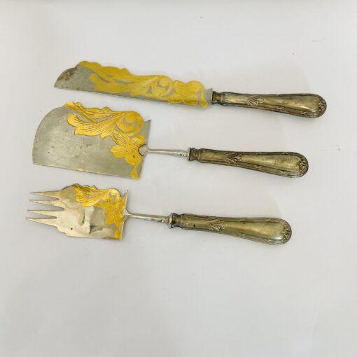 Десертный набор приборов середины 20 века, Европа.