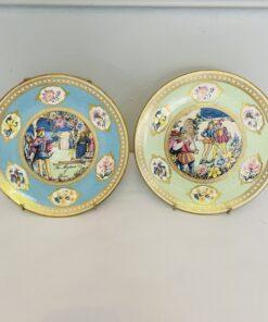 Пара коллекционных тарелочек 1970х годов серии «Shakespeare Flower Plate», Англия.