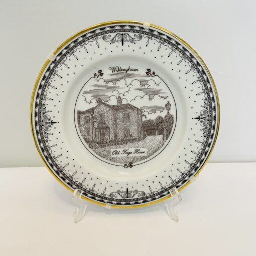 Пять коллекционных декоративных тарелочек с видами города Willingham, Англия.