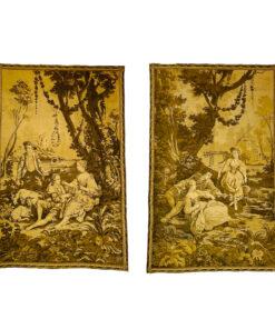 Гобелены парные антикварные конца XIX века, Франция
