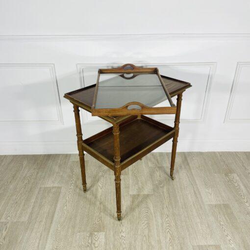 Сервировочный столик антикварный на колёсиках первой половины XX века, Франция.