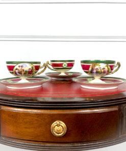Чайные/кофейные пары в неоклассическом стиле по мотивам картин Анжелики Кауфман. O.E.&G. Royal Austria