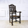 Антикварное резное рабочее кресло в бретонском стиле конца XIX века.