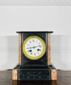 Антикварные мраморные часы рубежа XIX-XX веков, Франция.