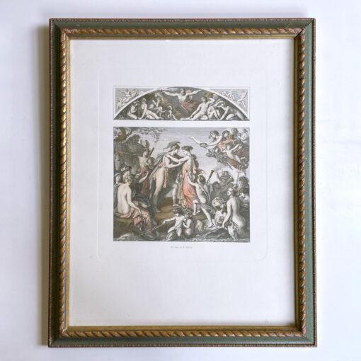 Парные цветные гравюры «Аполлон» и «Пелей и Тетис» 1960х гг., Европа.
