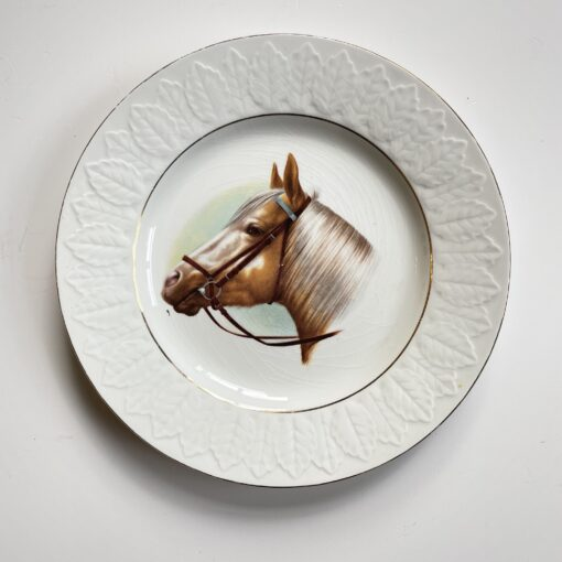 Парные винтажные декоративные тарелки «Лошади» 1960-х гг, Испания.