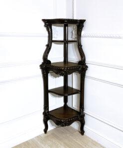 Антикварная угловая этажерка начала ХХ века из Франции.