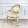 Антикварное кресло с круглой спинкой в стиле Людовика XVI. Рубеж XIX-XX веков, Франция.