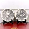 Пара коллекционных тарелочек с английскими монархами. 1960-1980 годы, Англия, Веджвудский фарфор