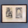 Две репродукции с гравюр в рамке, середина ХХ века, Европа
