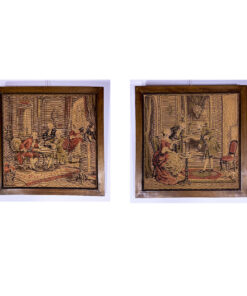 Парные гобелены в деревянных рамах середины XX века, Европа.