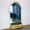 Огромное антикварное зеркало с жардиньеркой XIX века из Франции.