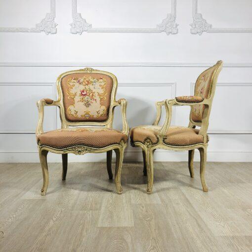 Парные антикварные кресла середины XX века, Франция.