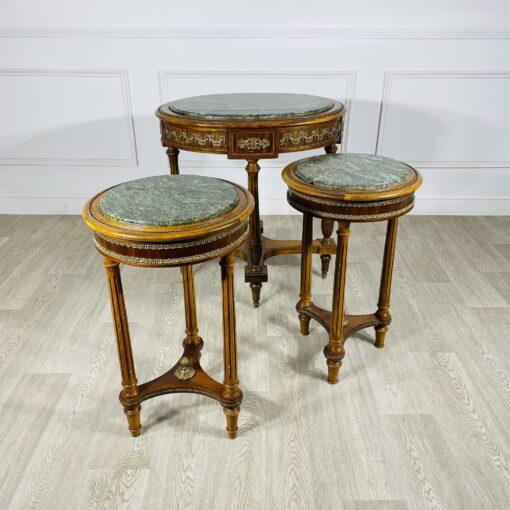 Набор из трех антикварных столиков первой половины ХХ века из Франции.