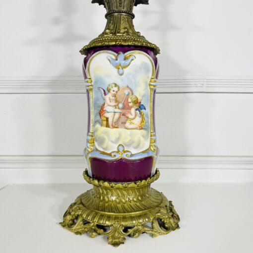 Керосиновая лампа конца XIX века из Франции.