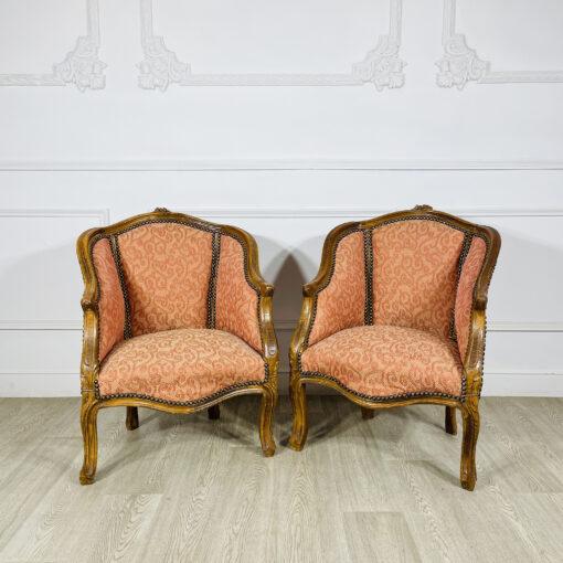 Парные миниатюрные кресла первой половины ХХ века из Франции.