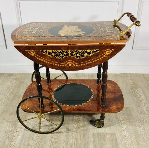 Сервировочный столик-тележка середины ХХ века из Франции.