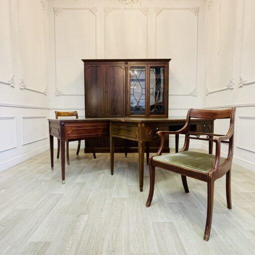 Винтажный кабинетный гарнитур из пары шкафов,пары столов и пары кресел.