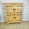 Шкаф антикварный в деревенском стиле с металлическими засовами середины XX века.