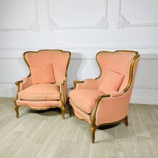 Кресла Бержер парные антикварные середины XX века.