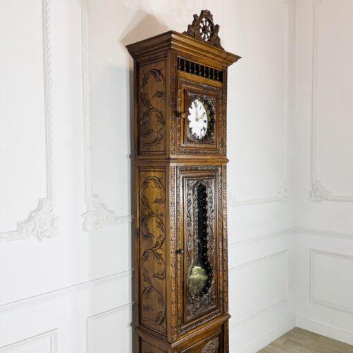 Часы напольные антикварные в бретонском стиле конца XIX века, Cheymol freres. Фото 4.