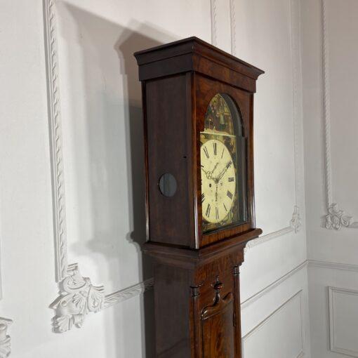 Напольные часы антикварные с ручной росписью Duncan Gray. Фото 6.