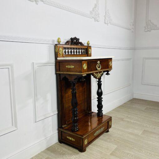 Консоль антикварная Ампир XIX века (1880-1890). Фото 1.