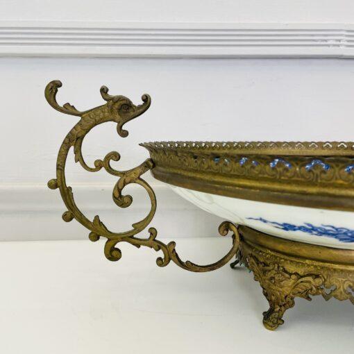 Блюдо-ваза антикварное китайское конца XIX века. Фото 2.
